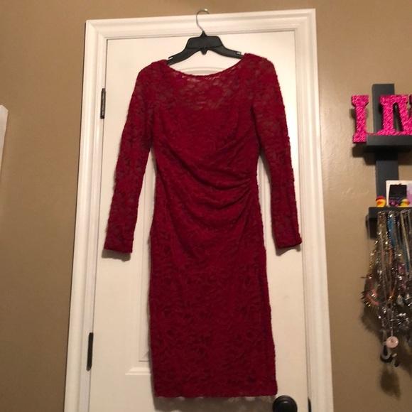 Ralph Lauren Dresses & Skirts - Red lace Ralph Lauren dress